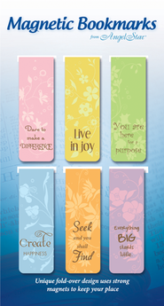 Believe, Purpose, Dare, Assorted Magnetic Bookmarks, Set of 6  -