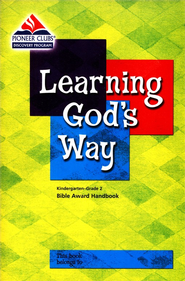 Learning God's Way Kids Handbook (Grades K-2)  -