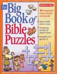 Big Book of Bible Puzzles, Grades 3-6, Ages 8-12  -