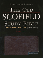 KJV Old Scofield &#174 Study Bible, Large Print, Bonded leather, Burgundy  -     Edited By: C.I. Scofield