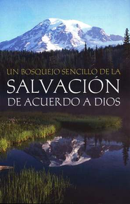 Un Bosq. Sencillo de la Salvacion de Acuerdo a Dios, Paq. de 25  (A Simple Outline of God's Way of Salvation, Pkg. of 25)  -