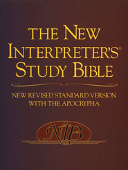 The New Interpreter's Study Bible (NRSV with the Apocrypha), hardcover  -              Edited By: Walter J. Harrelson                   By: Edited by Walter J. Harrelson