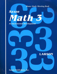 Saxon Math 3, Meeting Book   -