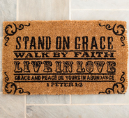 Stand On Grace Door Mat  -
