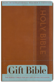 NIrV Gift Bible, Italian Duo-Tone, Brown  -              By: ZonderKidz