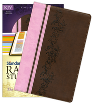 KJV Rainbow Study Bible -DuoTone (Brown/Pink)  -