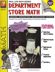 Department Store Math, Grades 4-8   -