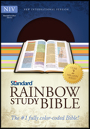 NIV Rainbow Study Bible - Bonded Leather (Brown)  -