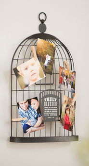 Bird Cage Photo Holder  -