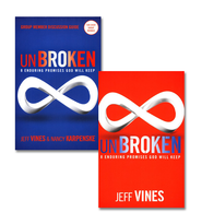 Unbroken: 8 Enduring Promises God Will Keep, Book & Discussion Guide    -              By: Jeff Vines, Nancy Karpenske