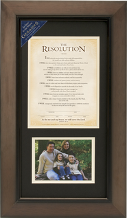 The Resolution Framed Print with Photo Opening, Courageous Movie  -