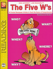 The Five W's Reading Level 1   -