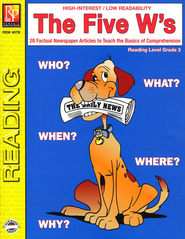 The Five W's Reading Level 3   -