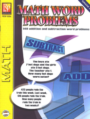 Math Word Problems, Grades 2-3   -