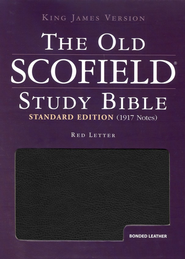KJV Old Scofield Study Bible, Standard Edition, Bonded leather,  Black, Thumb-Indexed  -     Edited By: C.I. Scofield