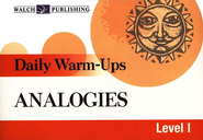 Daily Warm-Ups: Analogies, Grades 5-9   -     By: Liza Kleinman