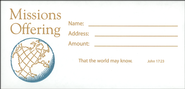 Missions Offering Envelope, Package Of 100   -
