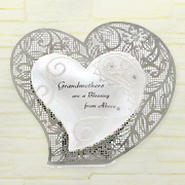 Grandmothers Are Blessing Standing Heart Plaque  -