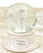 Two Hearts, One Dream Musical Waterglobe  -