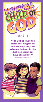 Becoming A Child of God Pamphlet  -     By: Pioneer Clubs