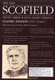 Old Scofield Study Bible, Classic Edition, KJV, Bonded Leather Blue  -