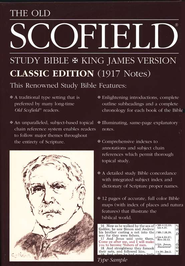 Old Scofield Study Bible Classic Edition, KJV, Bonded Leather Blue Thumb-Indexed  -