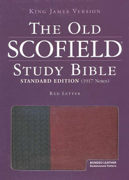KJV, The Old Scofield Study Bible Standard Edition, Basketweave  BK/BG, Bonded Leather, Thumb-Indexed  -