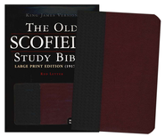 KJV Old Scofield, Large Print, Basketweave Black/Burgundy  -