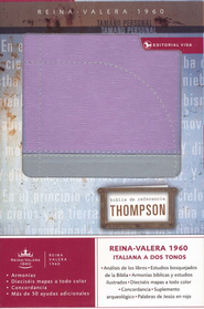 Biblia de Ref. Thompson RVR 1960, Duotone Gris/Lila  (Thompson Chain Reference Bible, Duotone Gray/Lila)  -