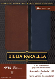 Biblia Paralela RVR 1960-NVI, A Dos Tonos, Marrón/Azul  (RVR 1960-NVI Parallel Bible, Duo Tone, Brown/Blue)  -