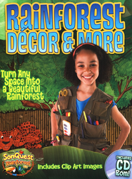 Rainforest Decor & More, with CD  -
