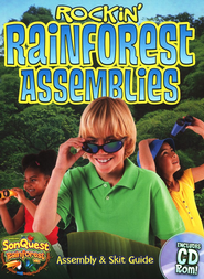 Rockin' Rainforest Assemblies, with CD - Slightly Imperfect  -