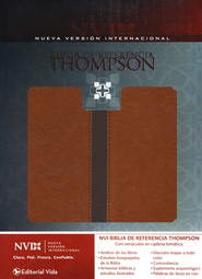 NVI Biblia de Referencia Thompson--piel imitada, marron/cafe (NIV Thompson Chain-Reference Bible--imitation leather, brown/tan)  -