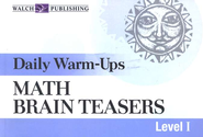 Math Brain Teasers, Level 1, Daily Warm-Ups   -     By: Susan Conover