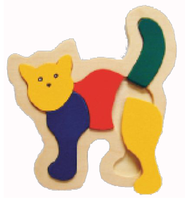 Shaped Puzzle Small - Cat  -