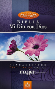 Biblia Mi Dia con Dios RVR 1960, End. Rústica  (RVR 1960 My Day with God Bible, Softcover)  -