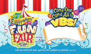 VBS 2013 Everywhere Fun Fair: Where God's World Comes Together - Outdoor Banner  -