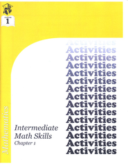 Intermediate Math Skills Activities Booklet, Chapter 1   -