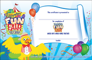 VBS 2013 Everywhere Fun Fair: Where God's World Comes Together - Student Certificate (package of 50)  -