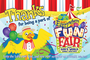 VBS 2013 Everywhere Fun Fair: Where God's World Comes Together - Thank You Postcard (package of 25)  -