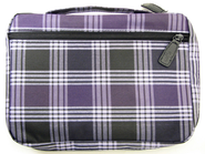 Plaid Bible Cover, Purple, Large   -