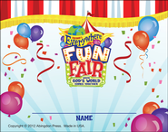 VBS 2013 Everywhere Fun Fair: Where God's World Comes Together - Nametag Card (Package of 24)  -