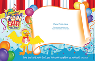 VBS 2013 Everywhere Fun Fair: Where God's World Comes Together - Follow-Up Photo Frame (package of 50-25 Sheets)  -