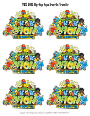 VBS 2013 Hip-Hop Hope: Jesus Makes Me Glad! - Iron-on, pkg of 12  -