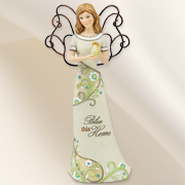 Bless This Home Angel Figurine  -