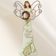 Family is Life's Greatest Blessing Angel Figurine  -