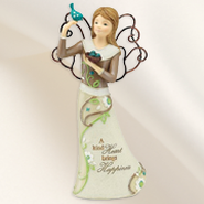 A Kind Heart Brings Happiness Angel Figurine  -