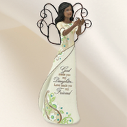 God Made Daughters Ebony Angel Figurine  -