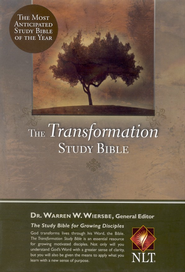 NLT Transformation Study Bible - imitation leather, black  (Thumb-Indexed)  -              Edited By: Warren W. Wiersbe