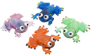 Flashing Squishy Frogs , pack of 12  -